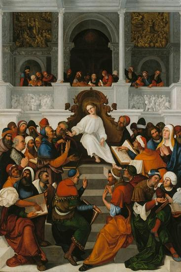 The Twelve-Year-Old Jesus Teaching in the Temple, 1524-Ludovico Mazzolino-Giclee Print
