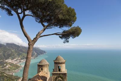 The Twin Domes of San Pantaleone Church from Villa Rofolo in Ravello-Martin Child-Photographic Print
