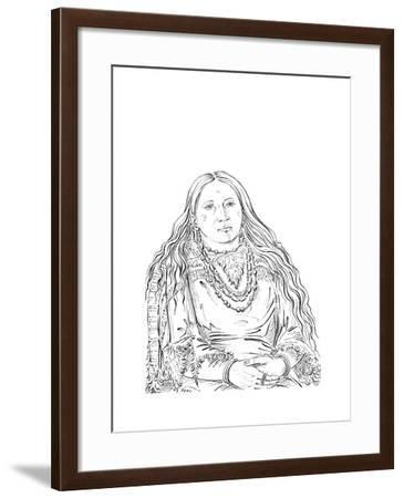 The Twin, Matron of the Riccaree Tribe, 1841-Myers and Co-Framed Giclee Print