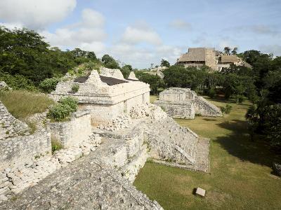 The Twin Pyramids, Mayan Ruins, Ek Balam, Yucatan, Mexico, North America-Balan Madhavan-Photographic Print