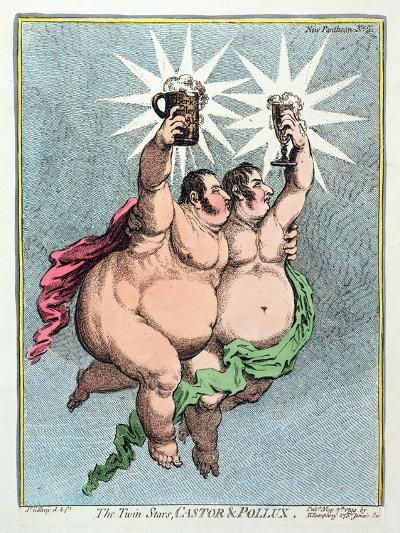 The Twin Stars, Castor and Pollux, Published by Hannah Humphrey in 1799-James Gillray-Giclee Print