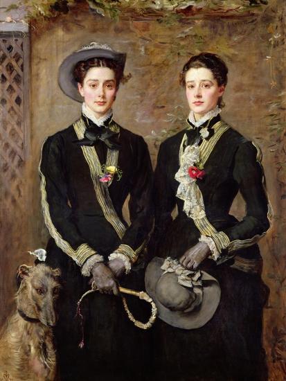 The Twins, Portrait of Kate Edith and Grace Maud Hoare, 1876-John Everett Millais-Giclee Print
