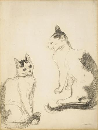 The Two Cats; Les Deux Chats-Theophile Alexandre Steinlen-Giclee Print