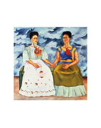 The Two Fridas 1939 by Frida Kahlo Art Print Poster 20x22