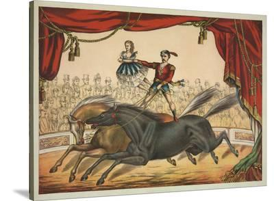 The Two Horse Act-Vintage Reproduction-Stretched Canvas Print
