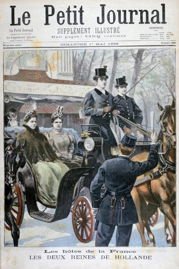 The Two Queens of Holland Visiting Paris, France, 1898-F Meaulle-Giclee Print