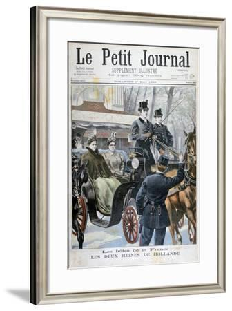 The Two Queens of Holland Visiting Paris, France, 1898-F Meaulle-Framed Giclee Print