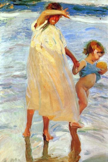 The Two Sisters, 1909-Joaquin Sorolla y Bastida-Giclee Print