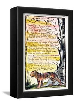 The Tyger', Plate 36 (Bentley 42) from 'Songs of Innocence and of Experience' (Bentley Copy L)-William Blake-Framed Premier Image Canvas