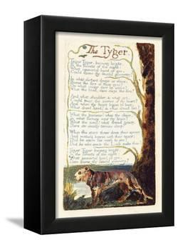 'The Tyger', Plate 41 from 'Songs of Experience', 1794-William Blake-Framed Premier Image Canvas