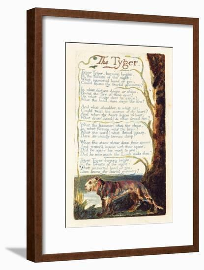 'The Tyger', Plate 41 from 'Songs of Experience', 1794-William Blake-Framed Premium Giclee Print