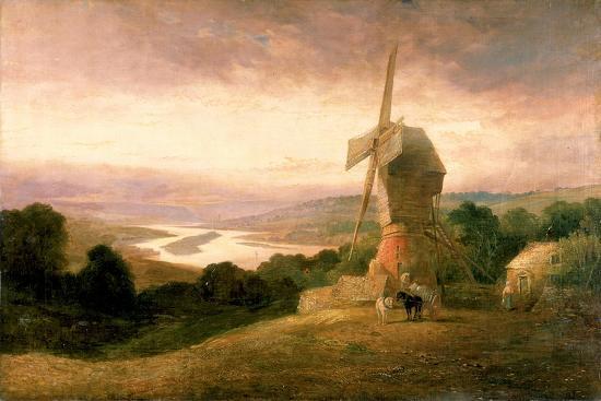 The Tyne from Windmill Hills, Gateshead, C.1818-Thomas Miles Richardson-Giclee Print