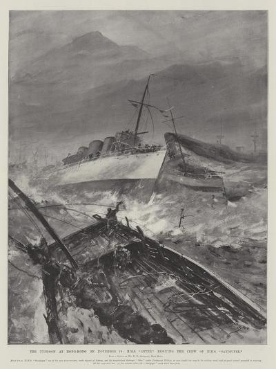 The Typhoon at Hong-Kong on 10 November, HMS Otter Rescuing the Crew of HMS Sandpiper-Henry Charles Seppings Wright-Giclee Print