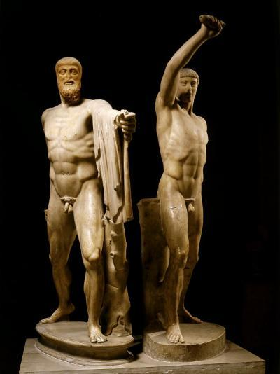 The Tyrannicides, Sculptural Group Depicting the Athenians, Harmodius and Aristogiton--Photographic Print
