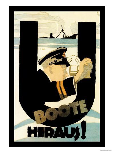 The U-Boats Are Out-Hans Rudi Erdt-Art Print