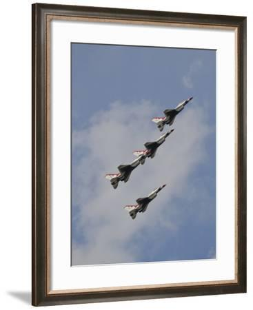The U.S. Air Force Thunderbirds Fly in Formation-Stocktrek Images-Framed Photographic Print