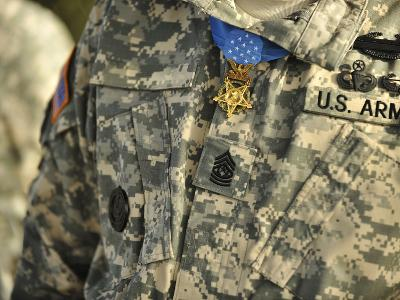 The U.S. Army Medal of Honor Is Worn by a Retired U.S. Soldier-Stocktrek Images-Photographic Print