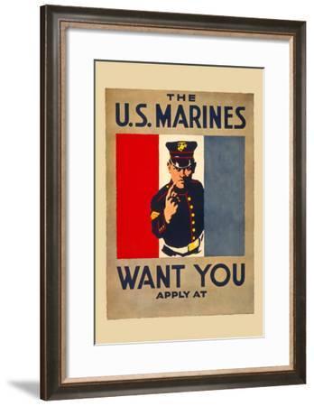 The U.S. Marines Want You--Framed Art Print