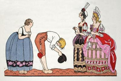 The Ugly Sisters from Cinderella-Georges Barbier-Giclee Print