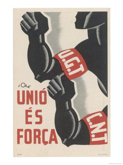 The Ugt and Cnt Unite, for Unity is Strength--Giclee Print