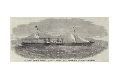The Ulster Paddle-Steamer Recently Launched at Birkenhead--Giclee Print