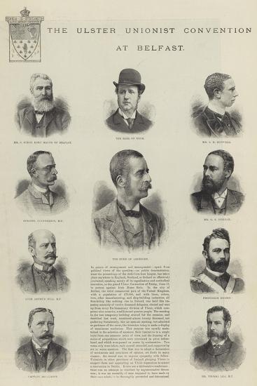 The Ulster Unionist Convention at Belfast--Giclee Print