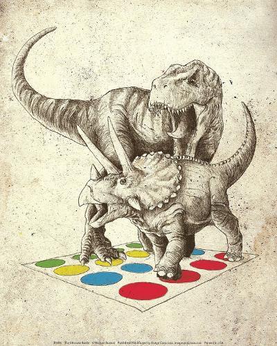 The Ultimate Battle-Michael Buxton-Art Print