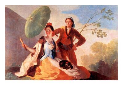 The Umbrellas-Francisco de Goya-Art Print