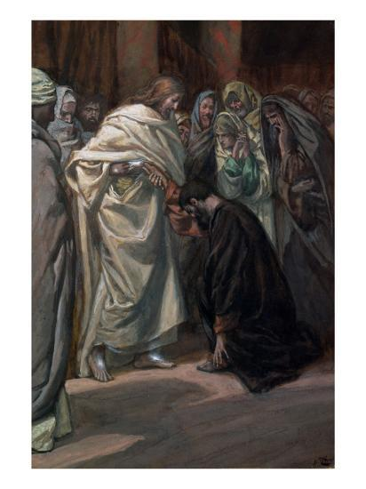The Unbelief of St. Thomas, Illustration for 'The Life of Christ', C.1884-96-James Tissot-Giclee Print