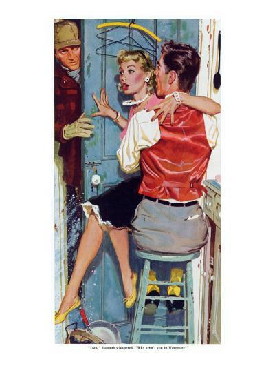 "The Undecided Blonde  - Saturday Evening Post ""Leading Ladies"", January 29, 1955 pg.p24-Robert Meyers-Giclee Print"