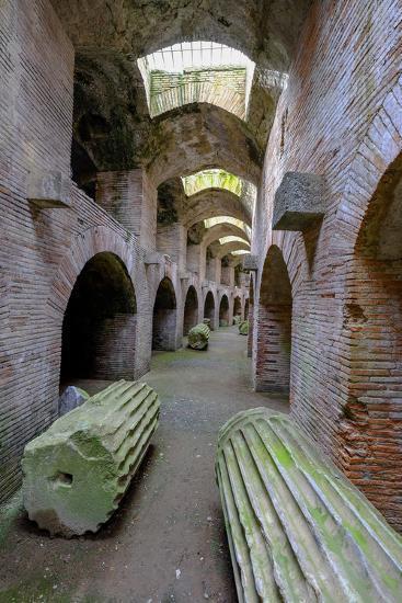 The Underground of the Flavian Amphitheater, Pozzuoli, Naples-Carlo Morucchio-Photographic Print