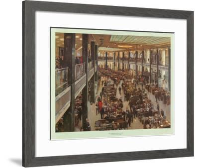 The Underwriting Room at Lloyd's-Terence Cuneo-Framed Art Print