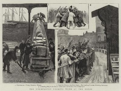 The Unemployed Seeking Work at the Docks--Giclee Print