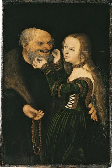 The Unequal Couple, Ca 1530-Lucas Cranach the Elder-Giclee Print