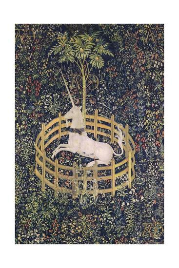 The Unicorn in Captivity Tapestry--Giclee Print