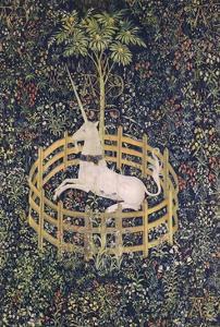 The Unicorn in Captivity Tapestry