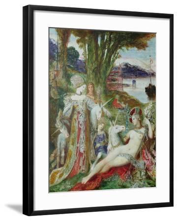 The Unicorns-Gustave Moreau-Framed Giclee Print