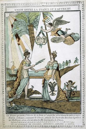 The Union Between France and Austria, 19th Century--Giclee Print