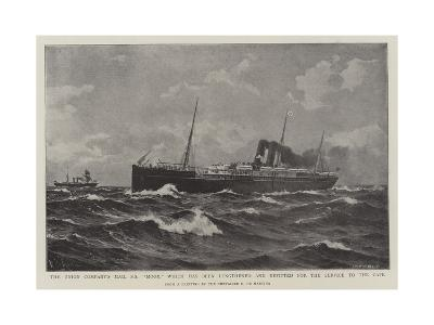The Union Company's Mail Ss Moor-Eduardo de Martino-Giclee Print