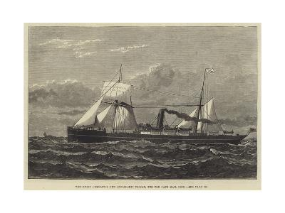 The Union Company's New Steam-Ship Trojan, for the Cape Mail Line--Giclee Print