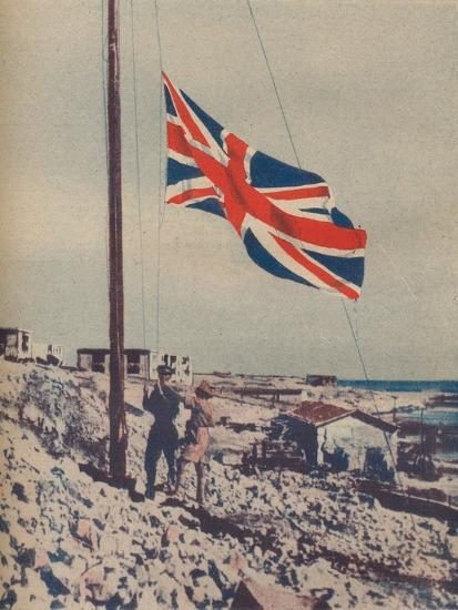 'The Union Jack Flies Over Tobruk', 1942-Unknown-Photographic Print