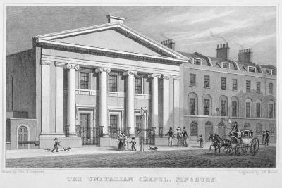The Unitarian Chapel, South Place, Finsbury, London, 1828-Frederick James Havell-Giclee Print