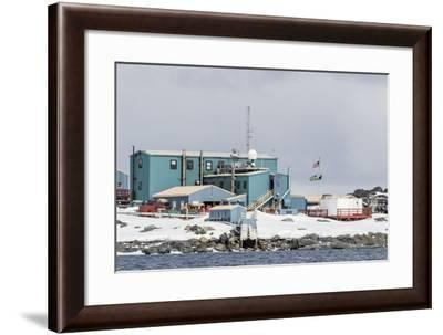 The United States Antarctic Research Base at Palmer Station, Antarctica, Polar Regions-Michael Nolan-Framed Photographic Print