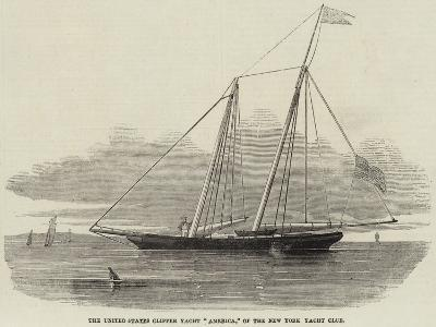 The United States Clipper Yacht America, of the New York Yacht Club--Giclee Print