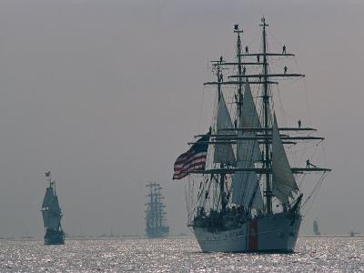 The United States Coast Guard Ship Eagle with Several Other Sailing Ships-Medford Taylor-Photographic Print