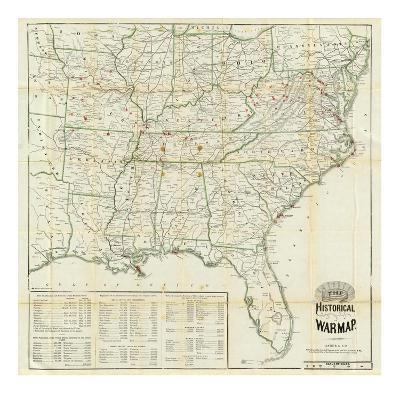 The United States Historical War Map, c.1862-Asher & Company-Art Print