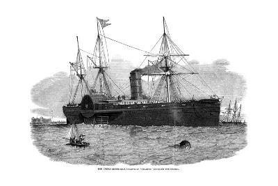The United States Mail Steam Ship 'Atlantic' Entering the Mersey, 1850- Smyth-Giclee Print