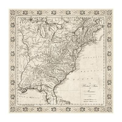 The United States of America, 1791-The Vintage Collection-Premium Giclee Print