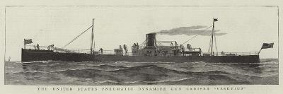 The United States Pneumatic Dynamite Gun Cruiser Versuvius--Giclee Print