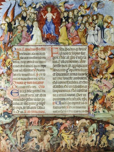 The Universal Judgment, Miniature from the Missal by Saint Eulalia, Manuscript, Spain--Giclee Print